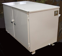 Equipment Cabinet with recessed key-lock doors